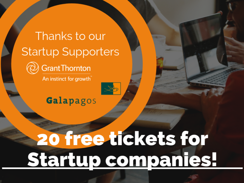 Extra free tickets available for Startup companies